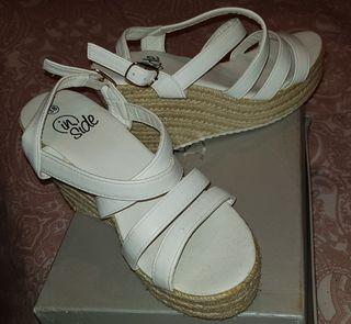 sandalia cuña talla 38