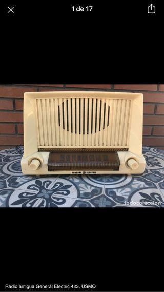 Radio antigua General Electric 423 no probada