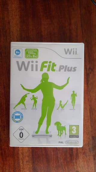 Wii balance board negra y Wii Fit Plus