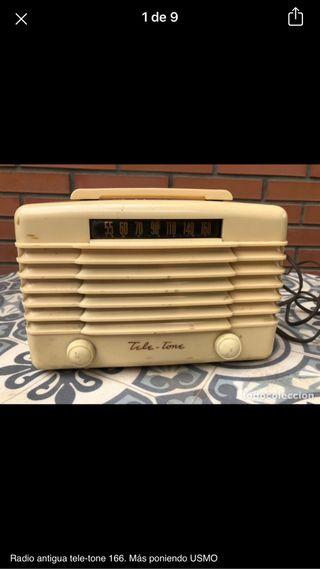 Radio antigua tele-tone 166 no probada