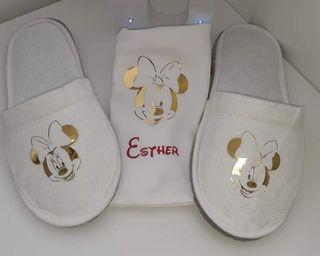 Zapatillas de andar por casa + bolsita personaliza