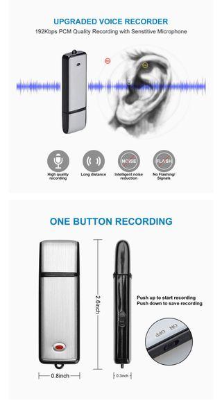 Mini grabadora 8 gb.Nueva.Garantía.