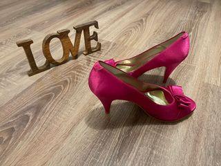 Zapatos de tacón fucsia Jennifer Pallares