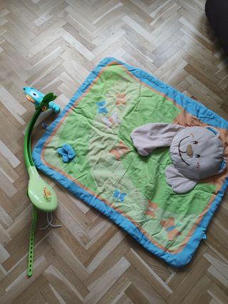 lote manta bebe y movil cuna