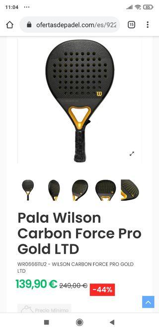Raqueta pádel Wilson Gold Pro 2020. Edición limita
