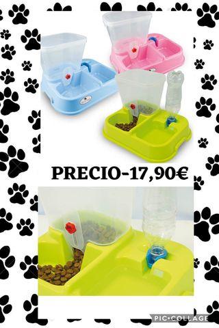 Dispensador de comida y agua para perros