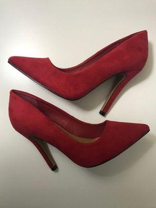 Zapatos de tacón alto piel de ante a estrenar