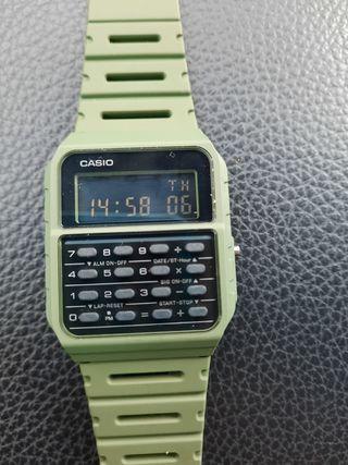 Casio reloj calculadora CA-53W verde militar