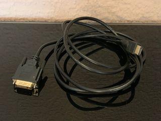 Cable DVI 24+5 a HDMI