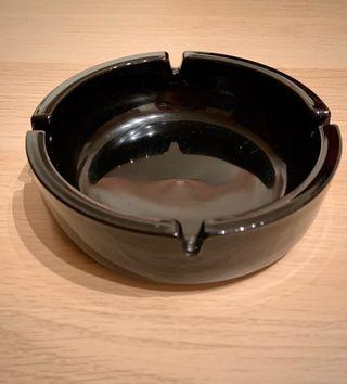 Matt black ashtray