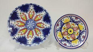 platos decorativos ceramica vintage. Unidad
