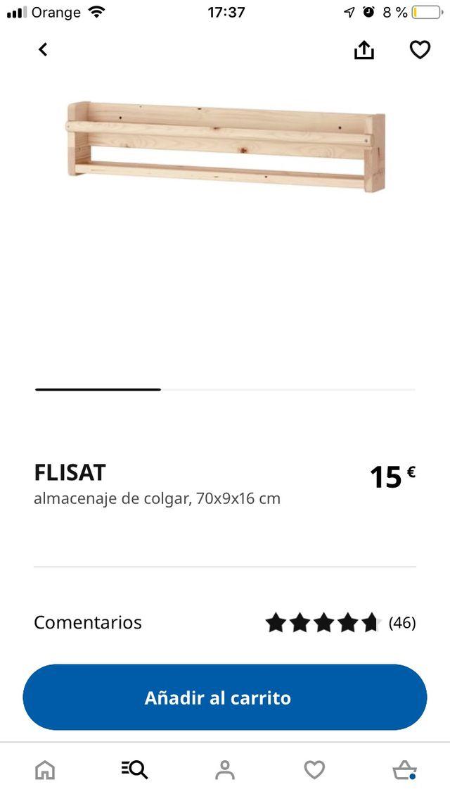 Dos estantes para libros de ikea FLISAT