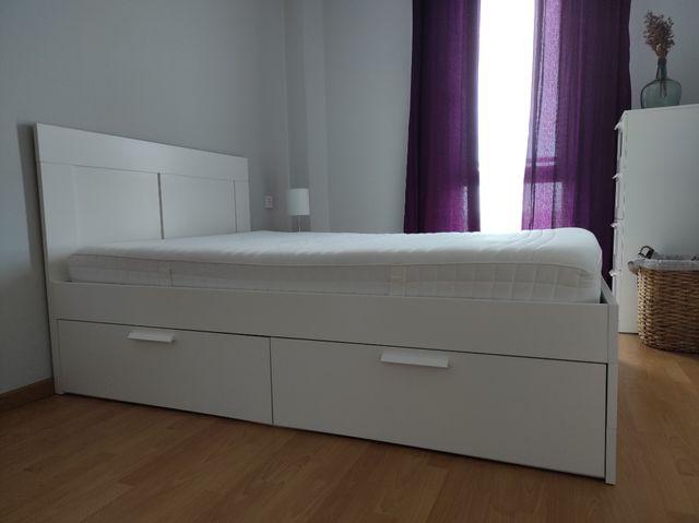 Cama + Cabecero + Colchón Ikea 140cm x 200cm