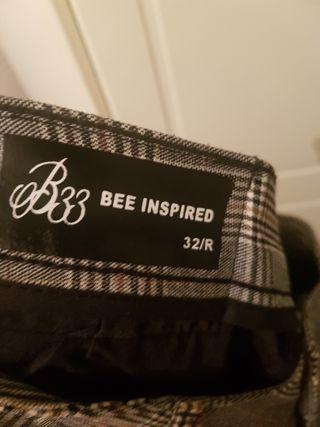 Mens Bee Inspired Chino 32 Waist Regular Leg NWT