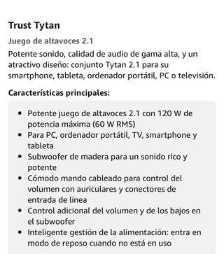 Altavoces Trust Tytan