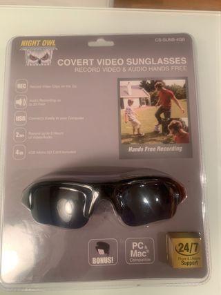 Gafas de sol con cámara de video