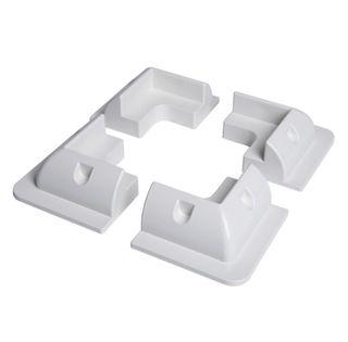 Soporte Esquinas ABS para placa Solar Color Blanco