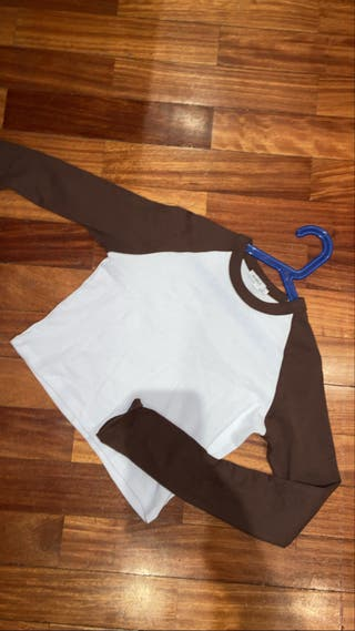 Top/camiseta manga larga de subdued marrón y blanc