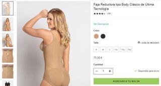 Faja Mujer LEONISA Reductora Beige tipo body.