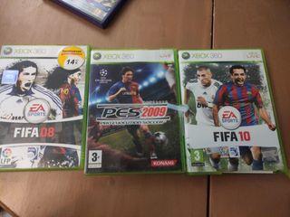 FIFA fútbol pes Xbox 360