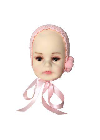 Capota rosa de punto para bebé de 0-3 meses