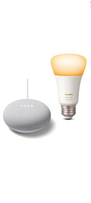 Google nest mini inteligente + Philips