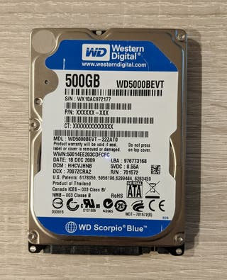 "Disco duro 2,5"" Western Digital blue 500GB"