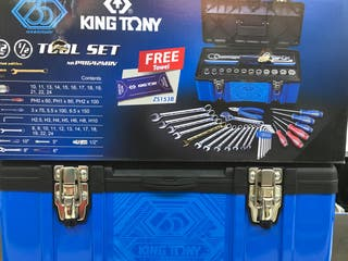 Maleta de 42pzs herramienta King Tony nueva