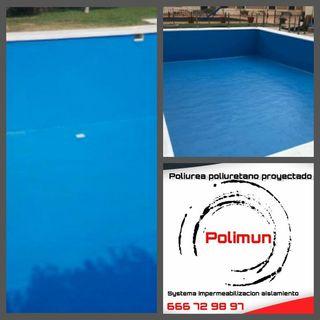 proyección de poliurea piscinas