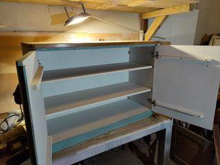 mueble auxiliar madera maciza de haya restaurado