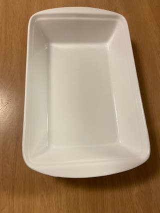 Oven/serving porcelain dish