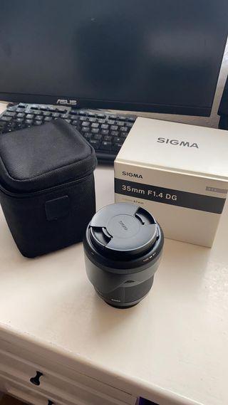 Objetivo Sigma 35mm 1.4 nikon