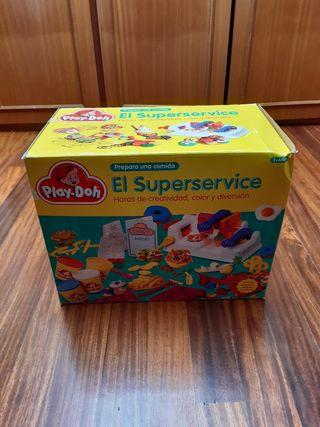 Juego de plastilina EL SUPERSERVICE de PLAY-DOH