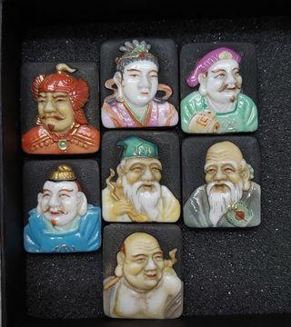 Antiguos Dioses Japoneses de la Fortuna siglo XIX