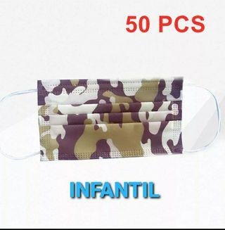 50 MASCARILLAS INFANTIL C. VERDE