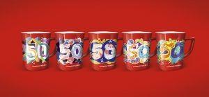 Tazas Nescafé 50 Aniversario