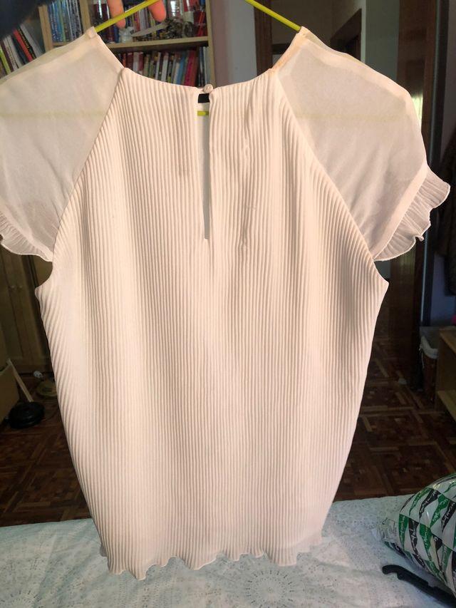 Top blanco Zara talla S