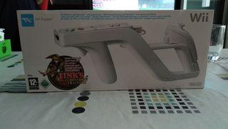 Pistola ZAPPER y juego LINK'S para consola WII.
