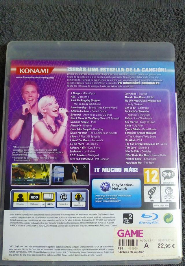 Karaoke Revolution! Para PS3