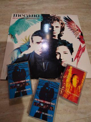 lote LP vinilo y 3 cassettes MECANO