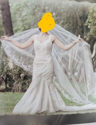 Vestido de novia de Pronovias talla 36
