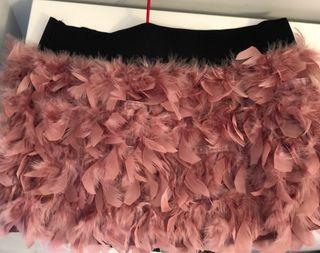 Falda plumas con cintura elastica