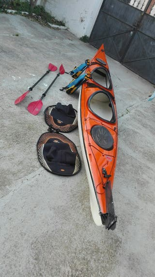 kayac/piragua de mar biplaza de travesía