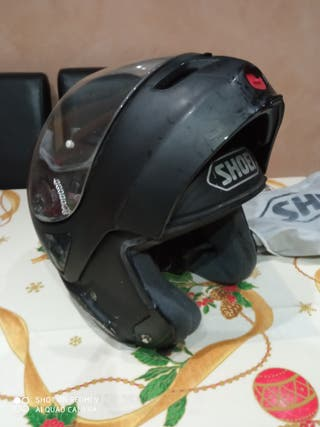 casco shoei modular negro talla L