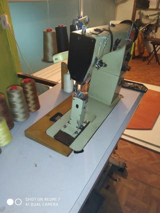 Maquina de coser industrial de columna