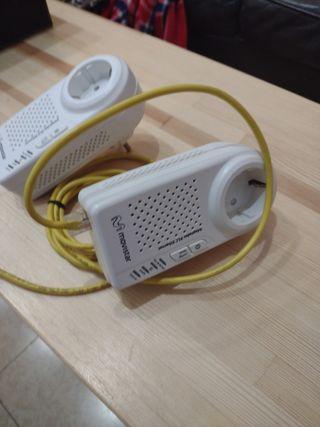 Adaptador PLC ethernet. internet conexión