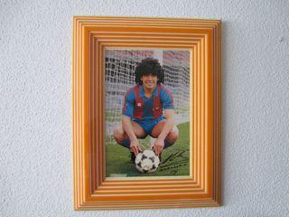 cuadro de Diego Armando Maradona en el Barcelona.