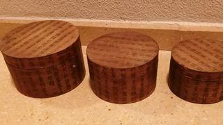Conjunto de 3 cajas japonesas. madera y papel