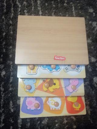 Puzle de madera nenittos+regalo puzle pequeño