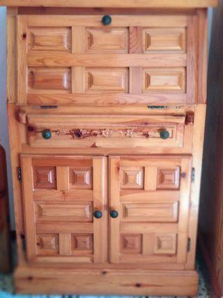Secreter madera de pino, aparador, escritorio
